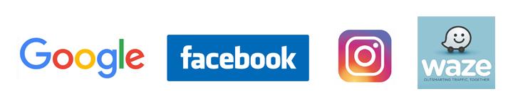 Google Facebook Instagramm Waze